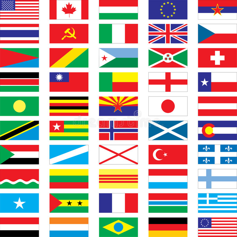 флаги иллюстрация штока