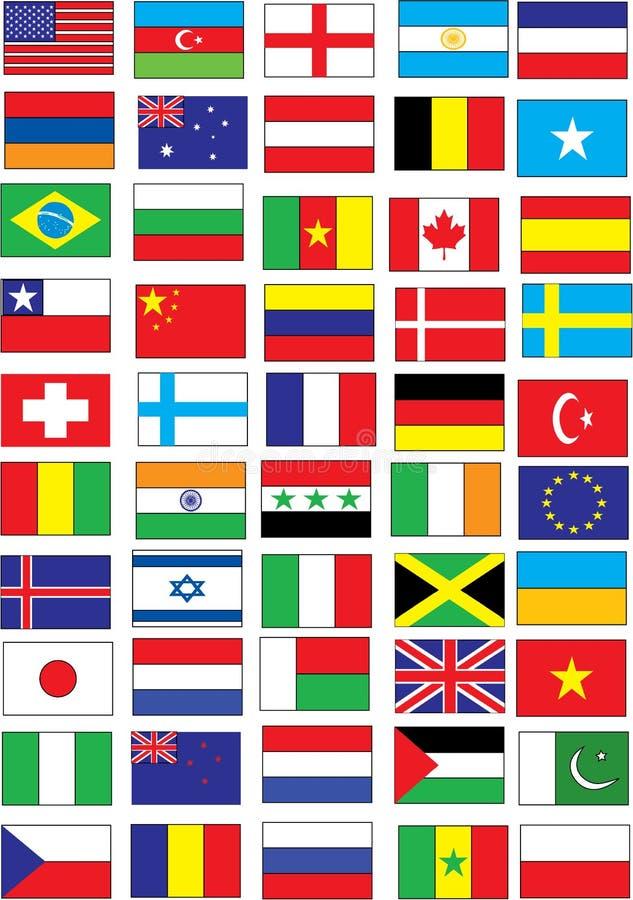 флаги иллюстрация вектора