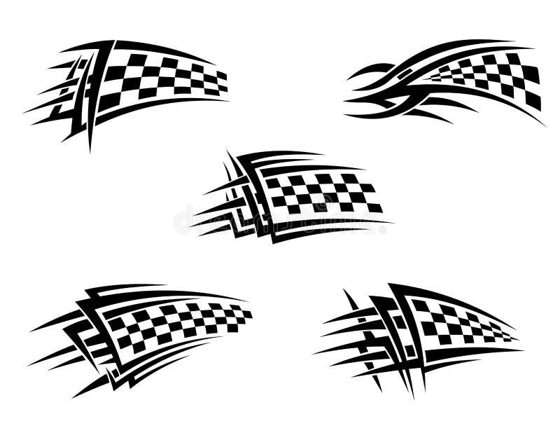 флаги chequer иллюстрация штока