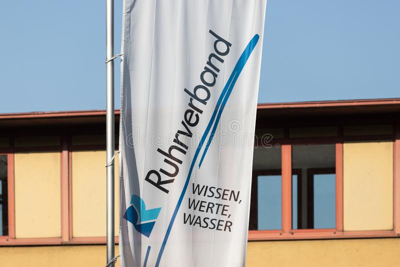 Флаги Ruhrverband в Хагене Германии стоковое фото