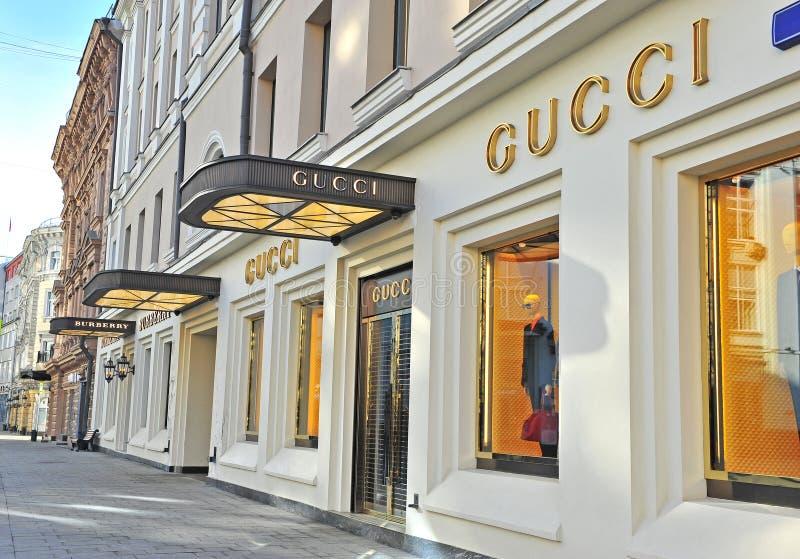 Флагманский магазин Gucci, улица Petrovka, Москва стоковые фото