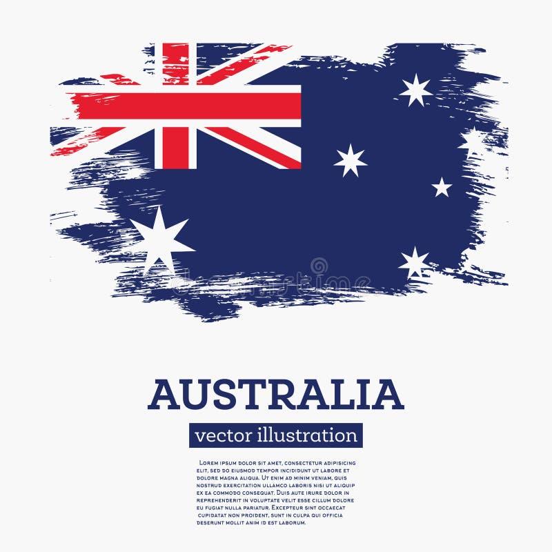 Флаг Австралии с ходами щетки иллюстрация вектора