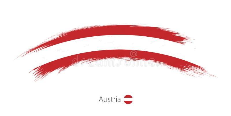 Флаг Австрии в округленном ходе щетки grunge бесплатная иллюстрация