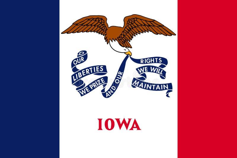 Флаг Айовы также вектор иллюстрации притяжки corel положения америки соединили иллюстрация вектора