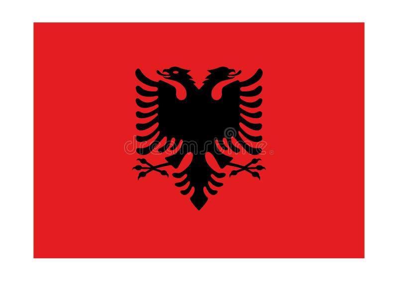 флаг Албании иллюстрация вектора