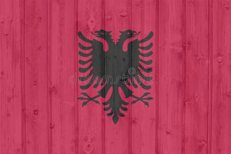 Флаг Албании Grunge иллюстрация вектора
