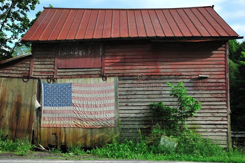 флаг амбара старый стоковые фото