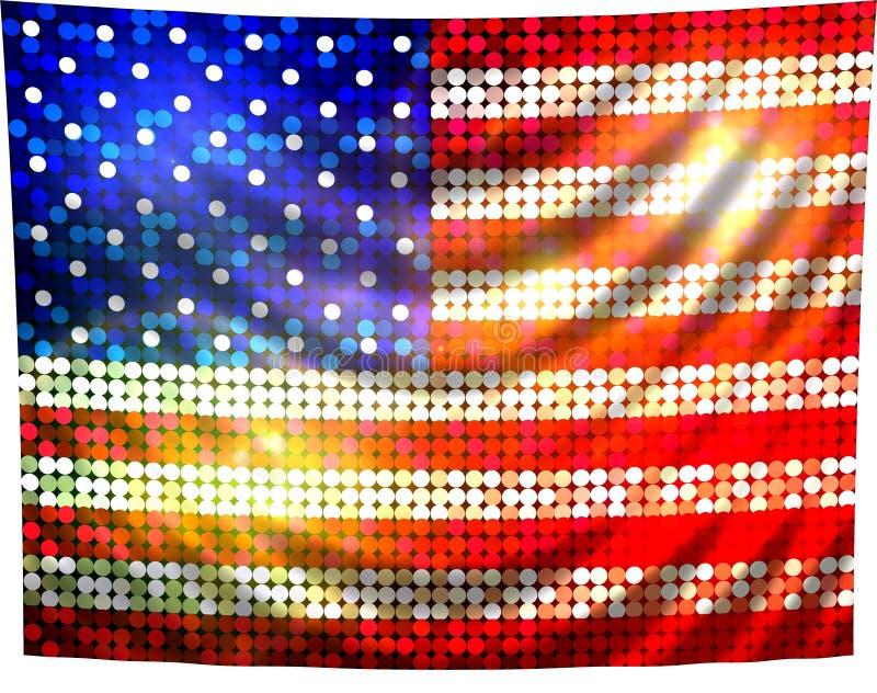 флаг америки сверкная бесплатная иллюстрация