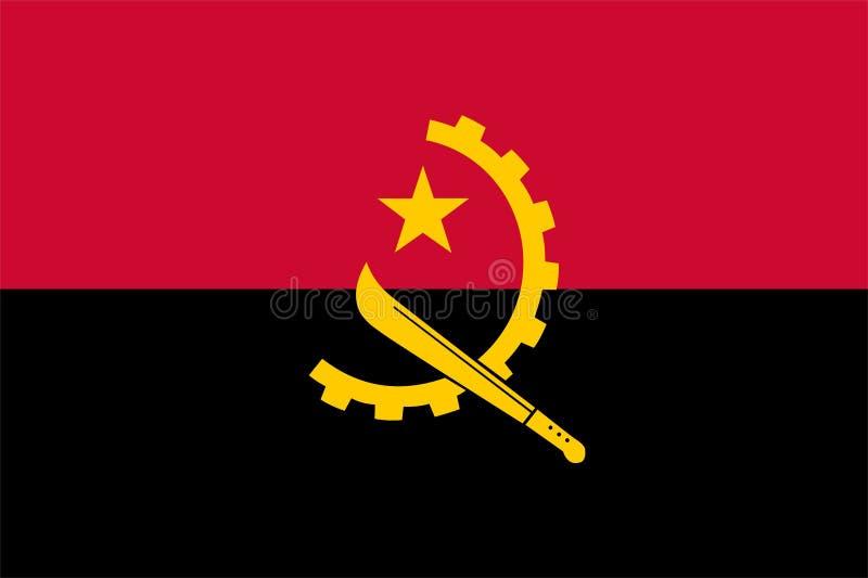 Флаг Анголы бесплатная иллюстрация