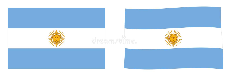 Флаг Аргентинской Республики Аргентины Простой и немножко wavi бесплатная иллюстрация