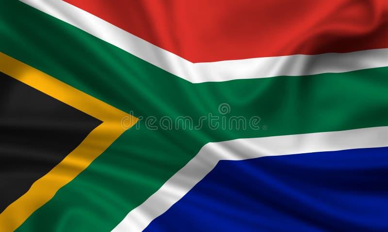 флаг Африки южный стоковое изображение rf