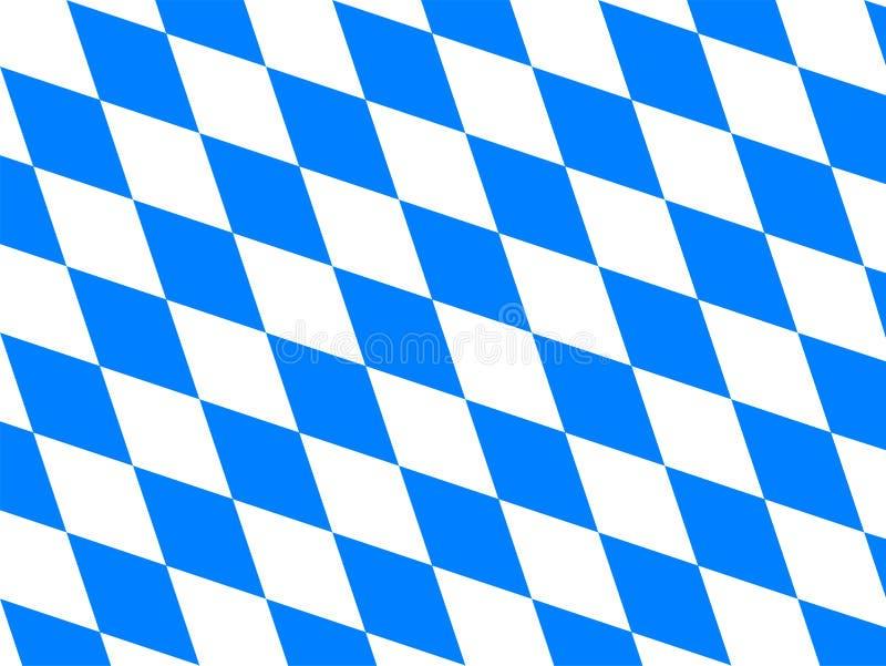 флаг Баварии иллюстрация вектора