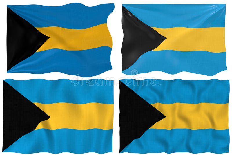 флаг Багам иллюстрация вектора