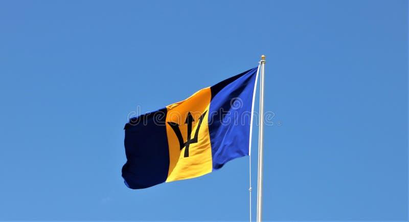 флаг Барбадосских островов стоковые фото