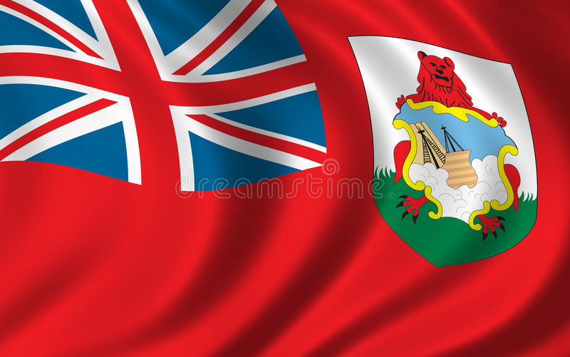 флаг Бермудских островов иллюстрация вектора