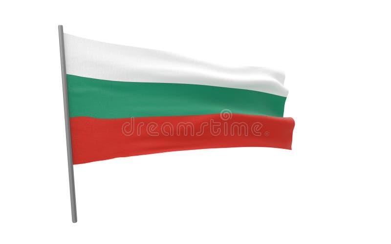 Флаг Болгарии иллюстрация вектора