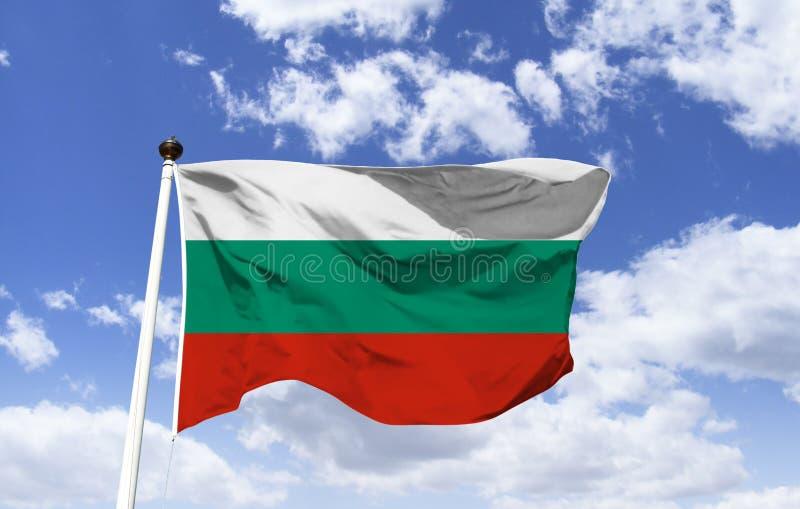 Флаг Болгарии, после своей независимости стоковые изображения rf