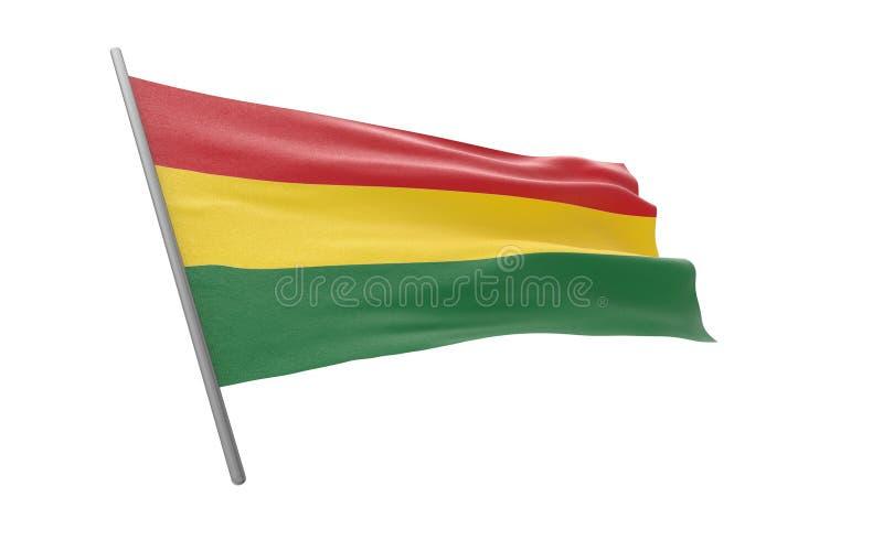 Флаг Боливии иллюстрация вектора