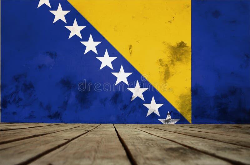 Флаг Босния и Герцеговина иллюстрация вектора