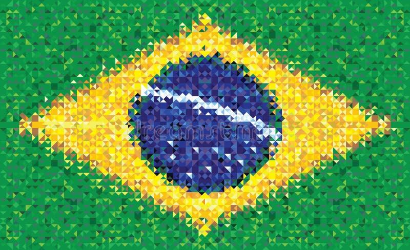 Флаг Бразилии, текстура вектора иллюстрация вектора