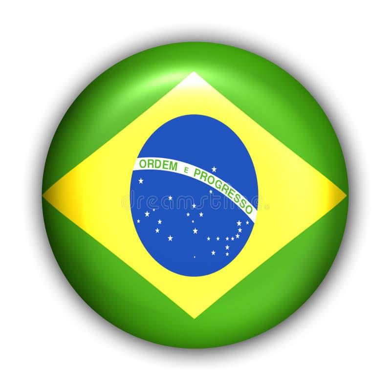 флаг Бразилии иллюстрация вектора