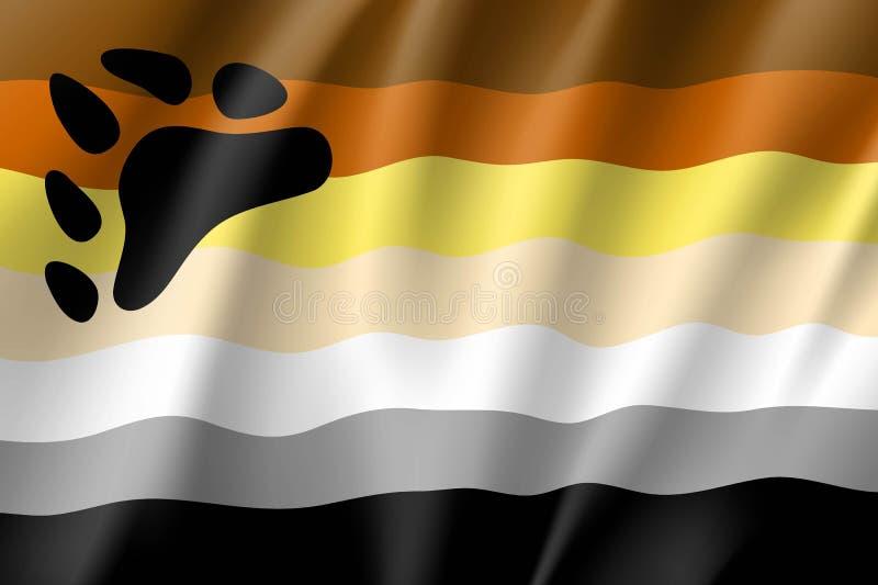 Флаг братства медведя бесплатная иллюстрация
