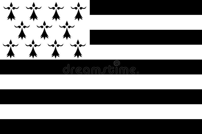 Флаг Бретани, Франции иллюстрация штока