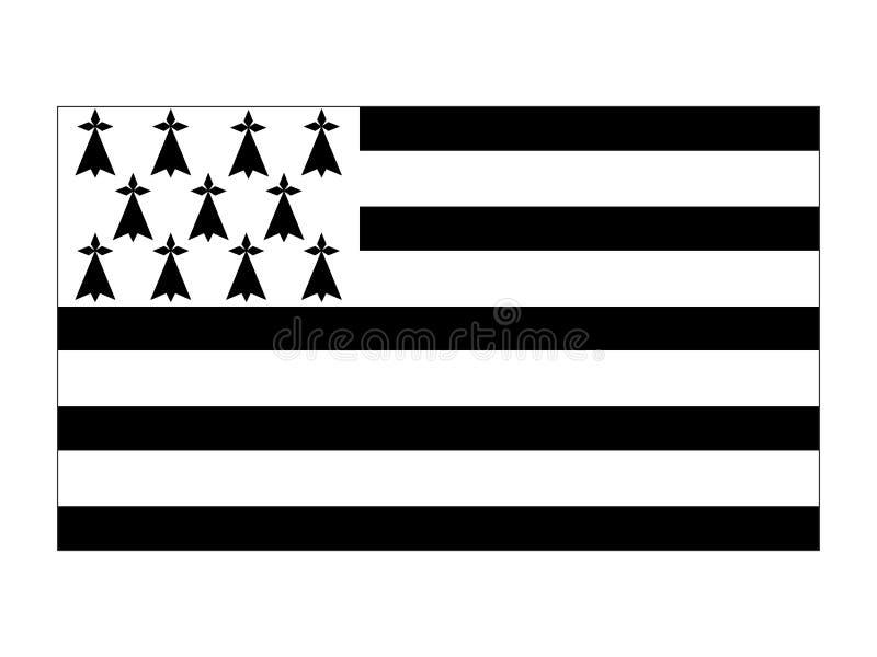 Флаг Бретани бесплатная иллюстрация