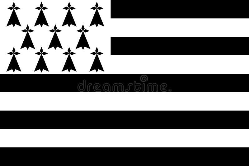 Флаг Бретань бесплатная иллюстрация