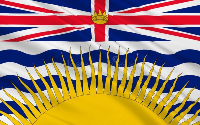 Флаг Британской Колумбии, Канада иллюстрация вектора