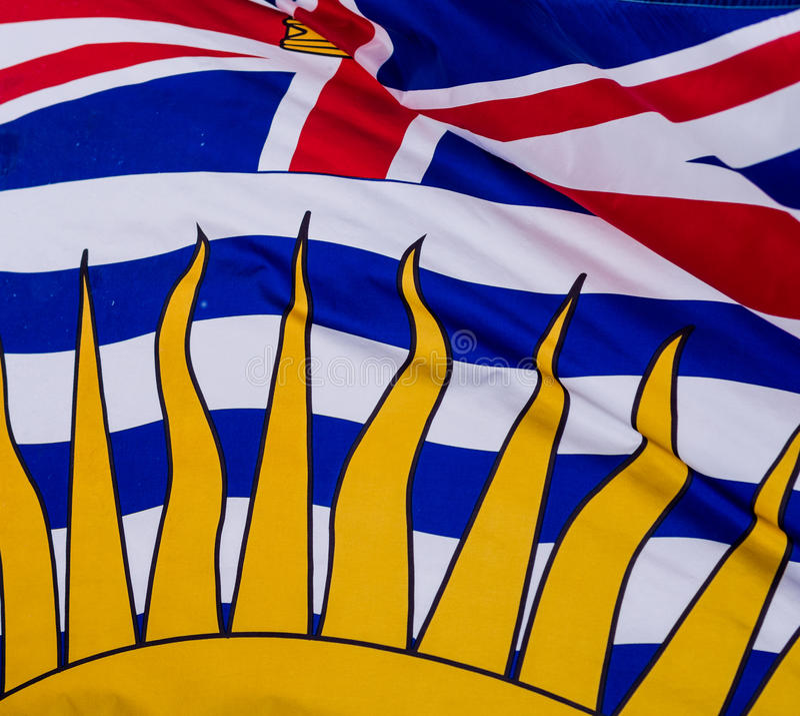 Флаг Британской Колумбии стоковое фото