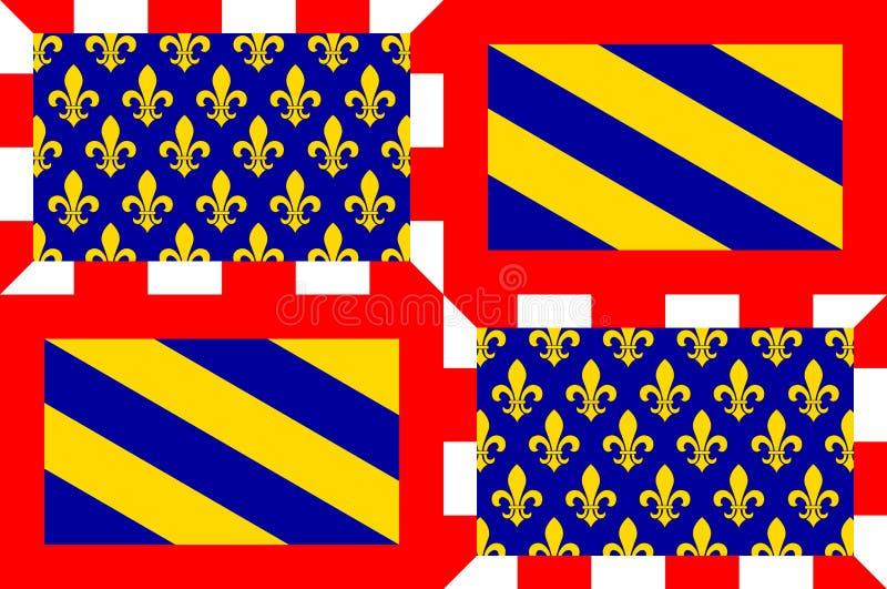 Флаг бургундского, Франция бесплатная иллюстрация