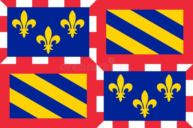 Флаг бургундского, Франция иллюстрация штока
