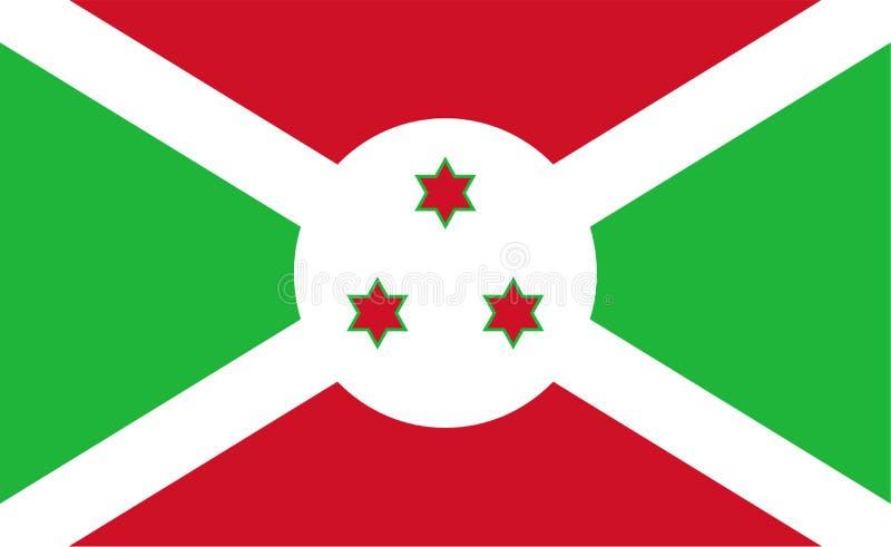 флаг Бурундии иллюстрация штока