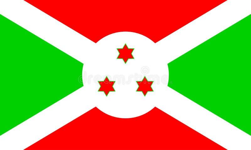 флаг Бурундии иллюстрация вектора