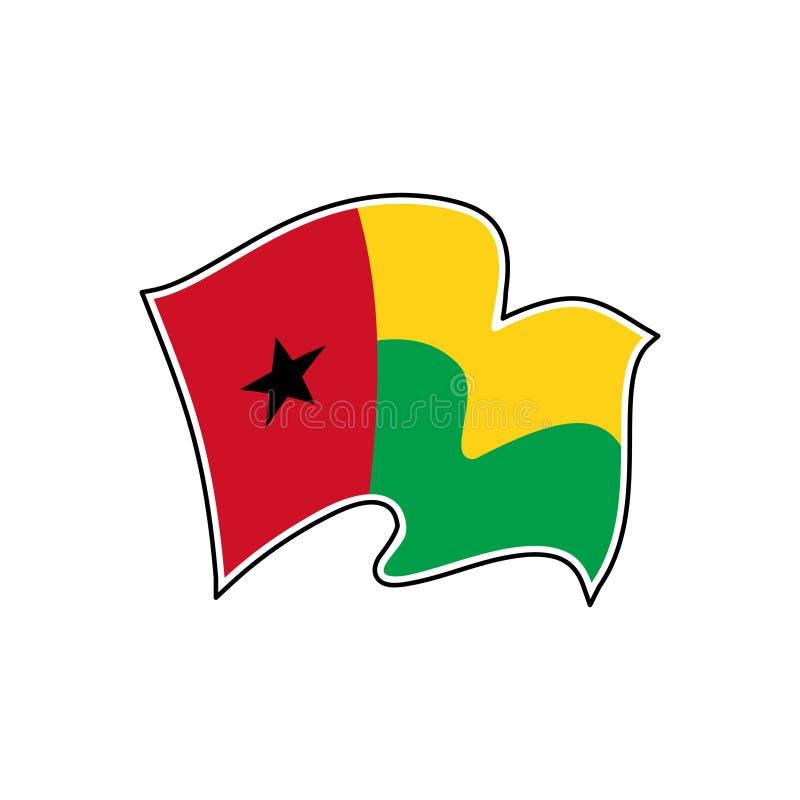 Флаг вектора Гвинеи-Бисау Национальный символ Гвинеи-Бисау бесплатная иллюстрация