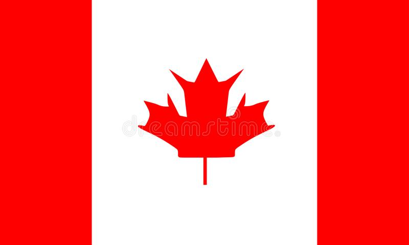 Флаг вектора Канады иллюстрация вектора