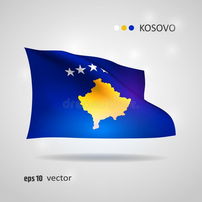 Флаг вектора Косова иллюстрация вектора