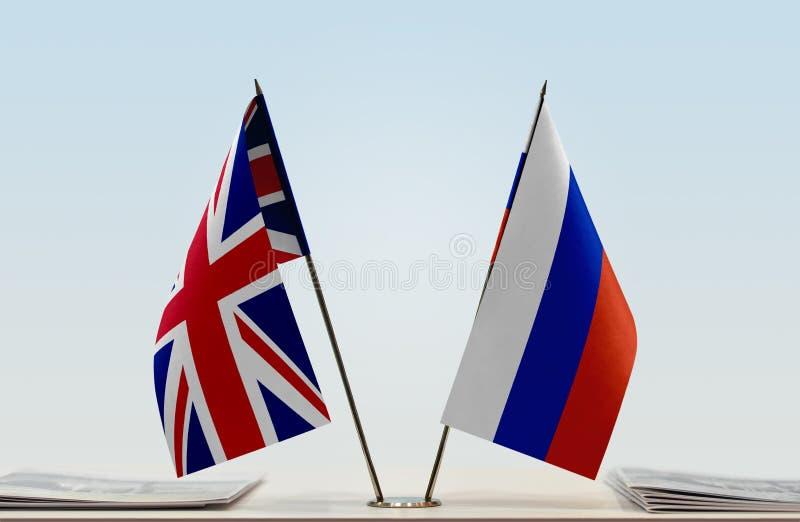 Флаг Великобритании и России стоковая фотография rf