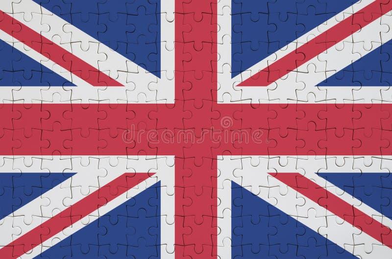 Флаг Великобритании показан на сложенной головоломке бесплатная иллюстрация