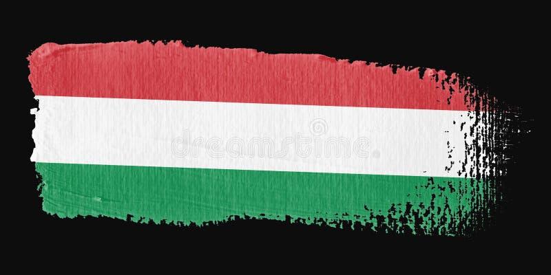 флаг Венгрия brushstroke бесплатная иллюстрация