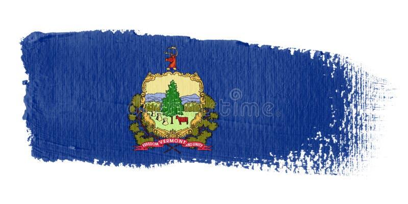 флаг Вермонт brushstroke иллюстрация штока