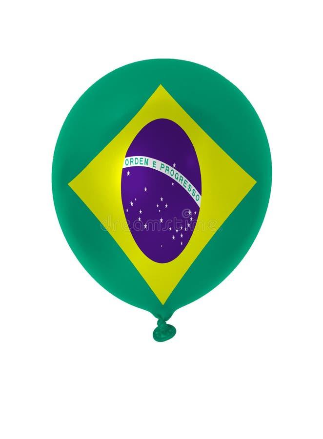Флаг воздушного шара Бразилии иллюстрация штока