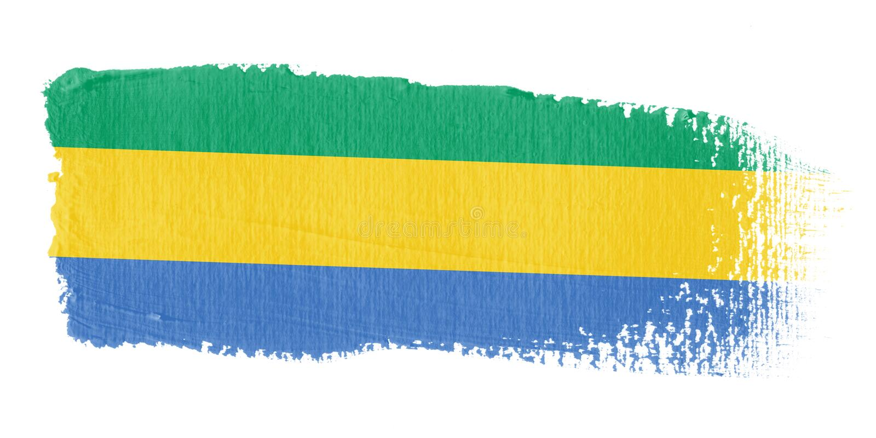 флаг Габон brushstroke бесплатная иллюстрация