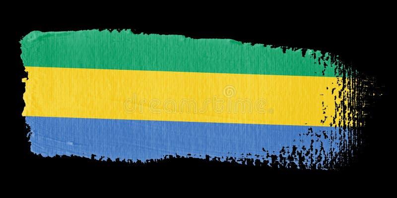 флаг Габон brushstroke иллюстрация вектора