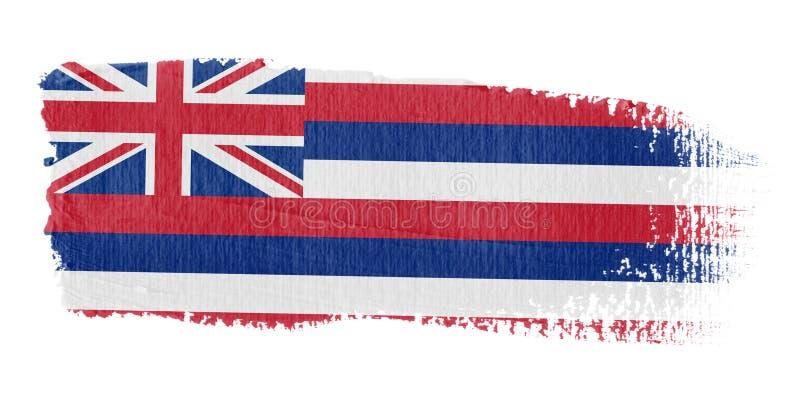 флаг Гавайские островы brushstroke иллюстрация вектора