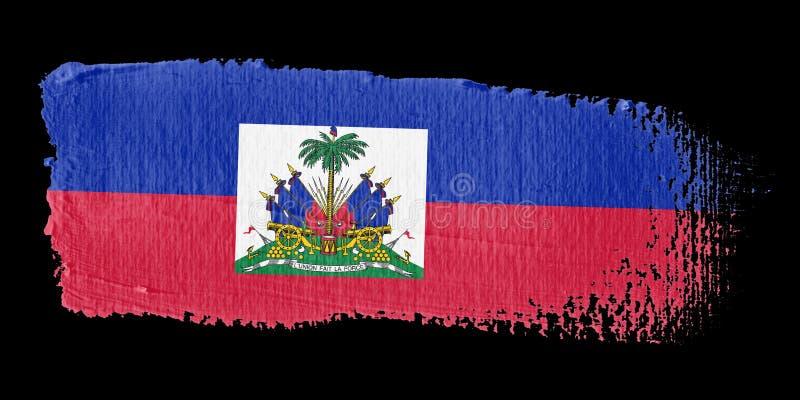 флаг Гаити brushstroke иллюстрация штока