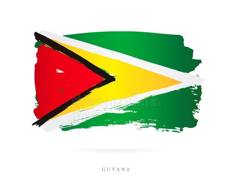 флаг Гайана Абстрактная принципиальная схема иллюстрация вектора