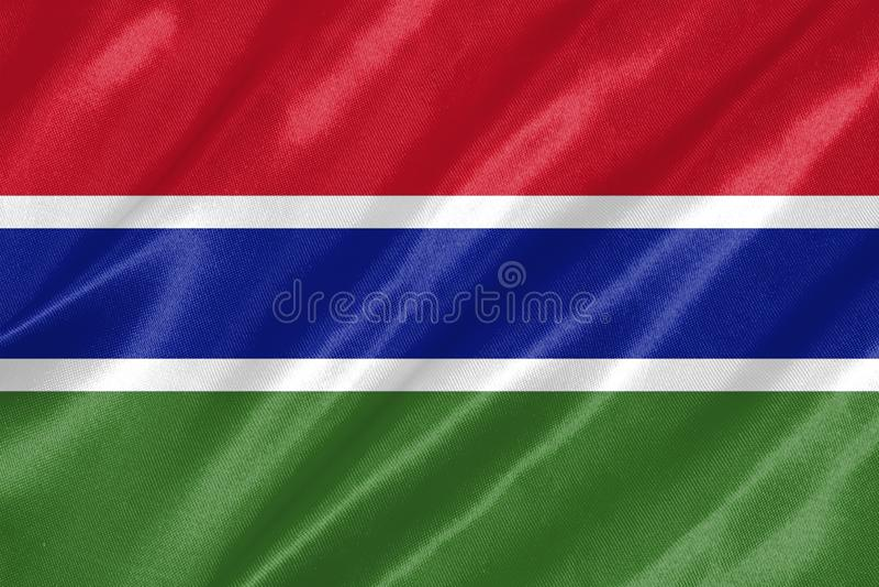 Флаг Гамбии иллюстрация штока