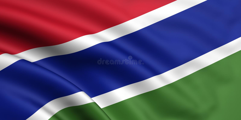 флаг Гамбия стоковые изображения